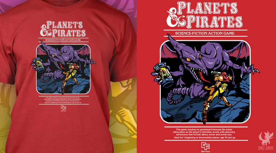 Planets and Pirates shirt