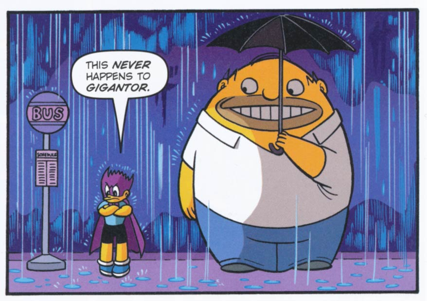 Tezuka-style Bartman and Homer