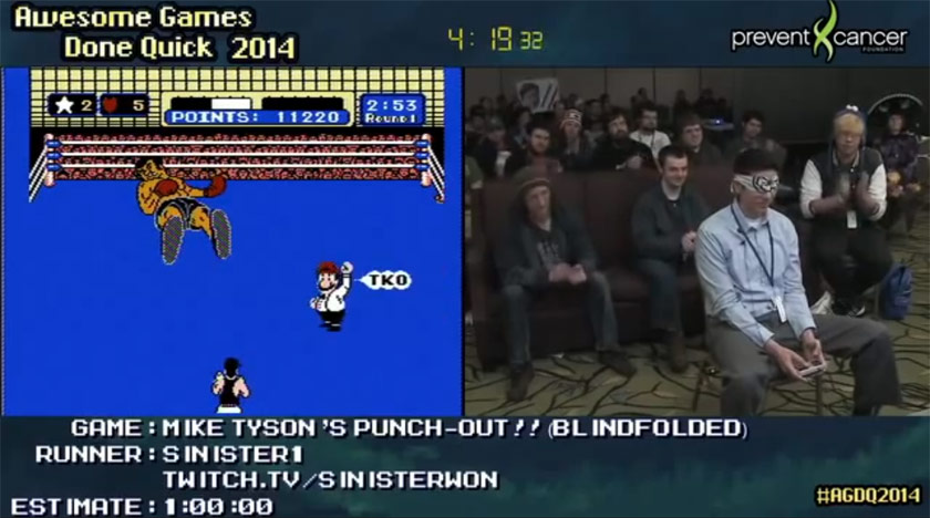 Sinister1 playing Punch-Out!! blindfolded