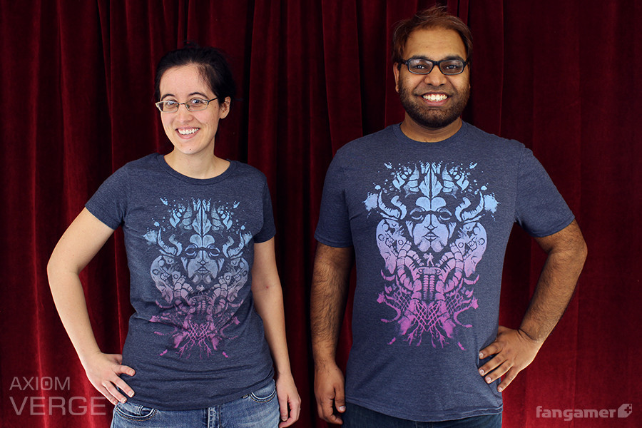"Fangamer staff modeling ""Reperception"""