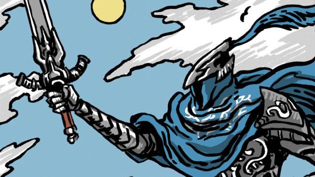 """Knight of Swords"" shirt up at Meat Bun"