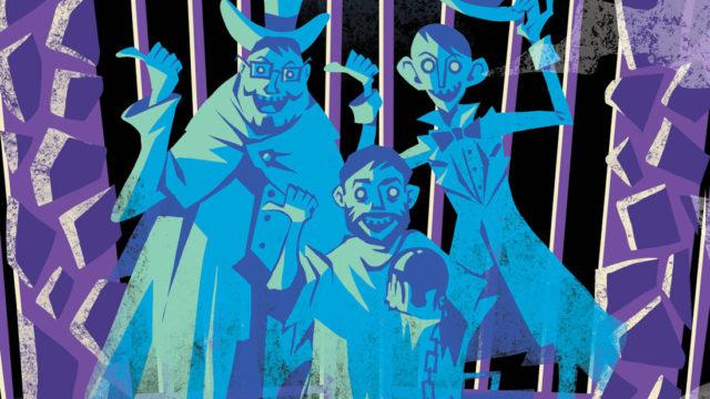 Mega64 Haunted Mansion closeup