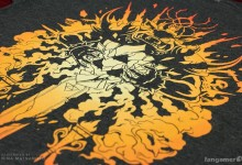 """Dark Chaos"" shirt close-up"