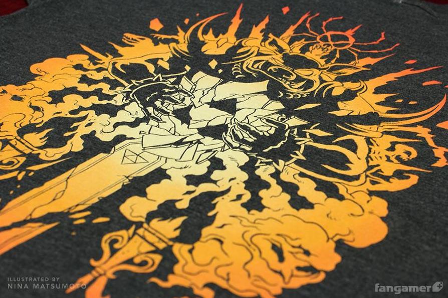 """""""Dark Chaos"""" shirt close-up"""